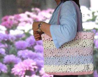 "Crochet Bag Pattern ""Sportina Carlotta"", Crochet Tote Pattern, Crochet Purse Pattern downloadable .pdf file"