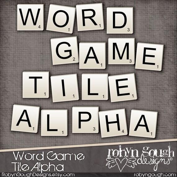 Clip Art Word Games : Digital scrapbook alpha clip art word game tile by