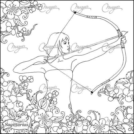 sagittarius coloring pages - photo #2