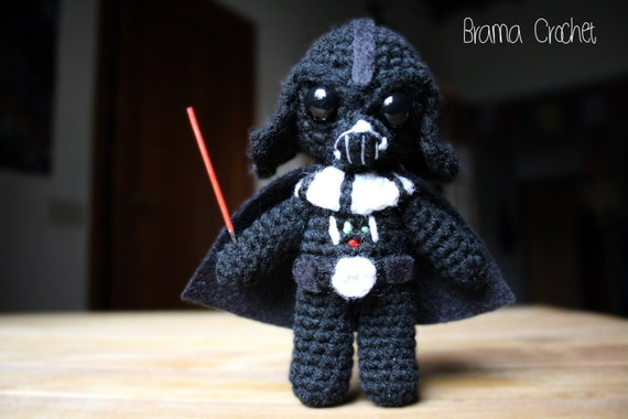 Darth Vader Star Wars Amigurumi Doll Handmade Crochet Toy