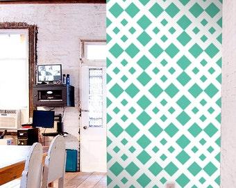 Removable self-adhesive modern vinyl Wallpaper wall sticker - Diamond on diamond pattern print wallpaper  C010