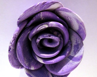 Purple Rose Pendant/Charm/Necklace, Rose Necklace, Rose Jewellery, Flower Jewellery, Purple Polymer Clay Jewellery,  Rose Pendant Jewelry