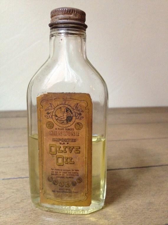Items Similar To Vintage Glass Olive Oil Bottle Jar