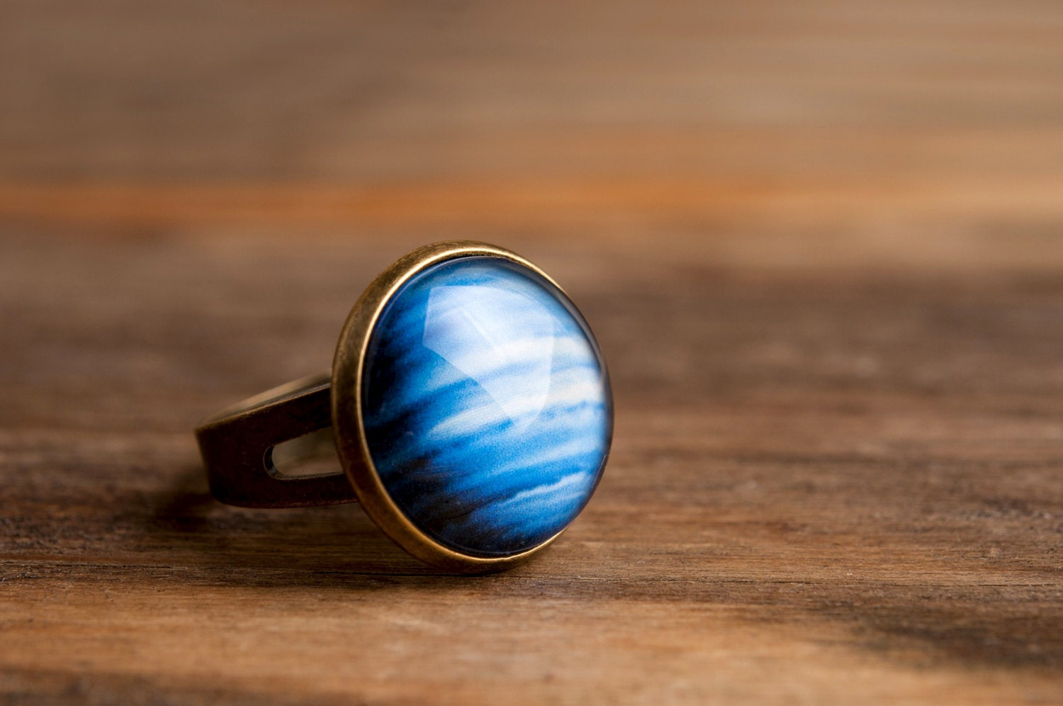 Planet Neptune Ring Adjustable Ring Statement Ring By