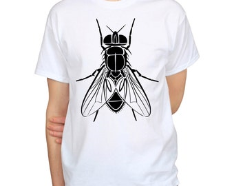 House Fly T-shirt, Insect Shirt, Unique Gift for Entomologist, Bug t-shirt, Funny tshirt, Humorous graphic tee