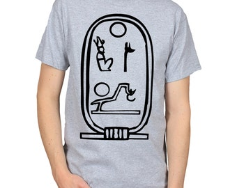 Egyptian Hieroglyph t-shirt, Ancient Egypt Hieroglyphics shirt, Gift for Archaeologist, Gift for Student