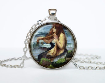 Mermaid necklace Mermaid pendant Mermaid  jewelry vintage style