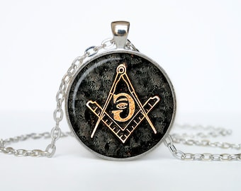 Masonic sign pendant Masonic symbol necklace Masonic jewelry