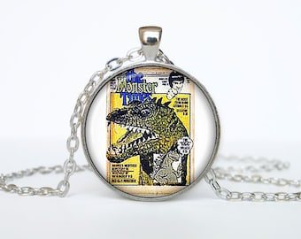 Old newspaper necklace Vintage newspaper pendant newspaper jewelry
