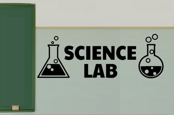 Classroom Wall Decoration Ideas ~ Items similar to science lab vinyl wall decals