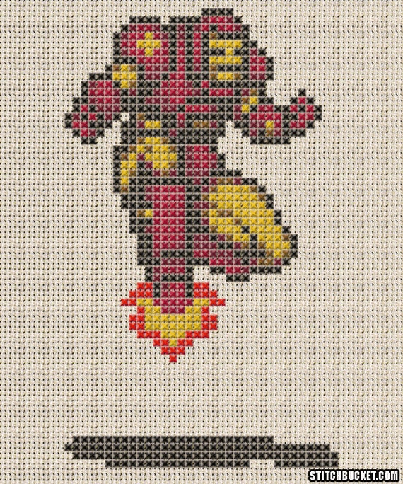 Iron Man Pattern Iron Man Cross Stitch Pattern