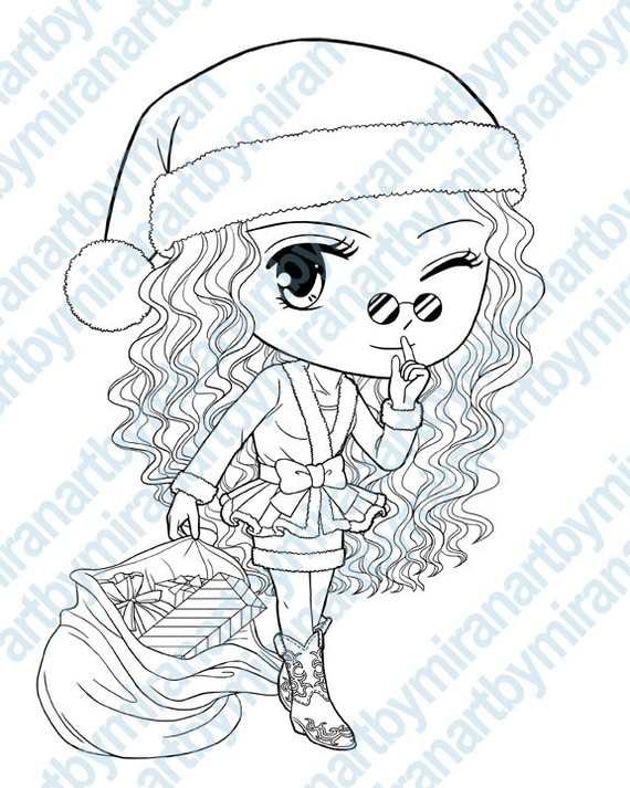 christmas coloring pages for girls - photo#32
