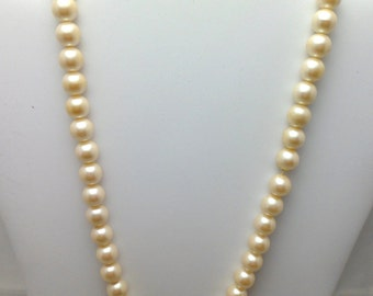 Vintage 1980's Pearl and Hematite Pave Necklace