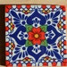 90 Mexican tiles hand painted.