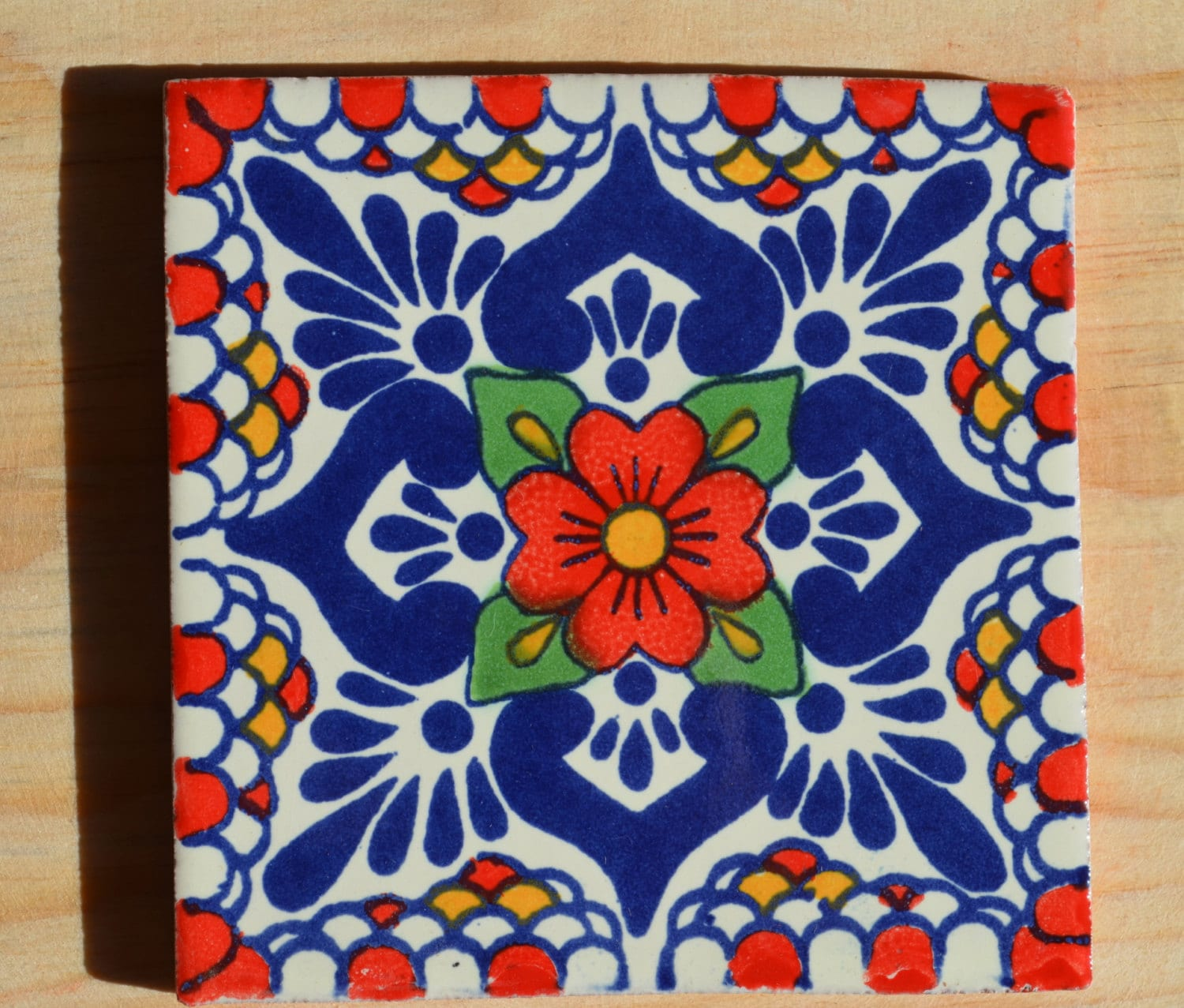 Mexican Tiles: 90 Mexican Tiles Hand Painted