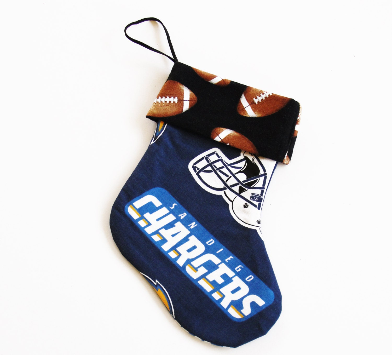 San Diego Chargers Fan: San Diego Chargers Mini Christmas Stocking For A Football Fan
