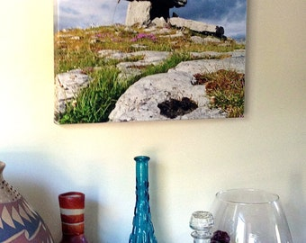 Irish Wall Art Poulnabrone Dolmen Ancient Ireland Architecture Giclee Canvas Photo Print