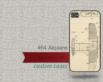Cell Phone Case Iphone 5 / 5S / 5C 4 / 4S Samsung Galaxy S3 / S4 - Airplane Design Number 64