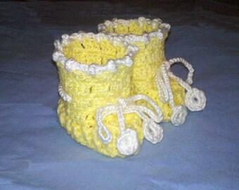 Newborn Baby Crochet Booties