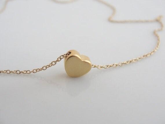 goldene halskette gold herzhalskette winzigen gold. Black Bedroom Furniture Sets. Home Design Ideas