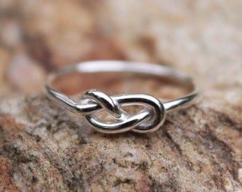 Infinity Knot Ring Sterling Silver Figure 8 Bridesmaid Friendship Ring Celtic knot