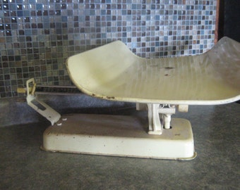Vintage Detecto Yellow Baby Infant Scale Photography Prop Antique