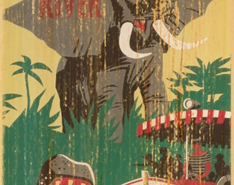 Giclee Printed Jungle Cruise Attraction Poster