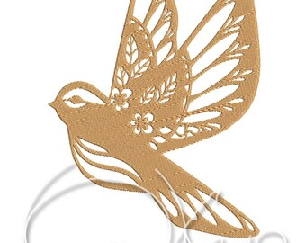 MACHINE EMBROIDERY FILE - Bird