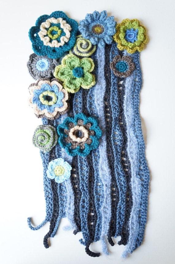 Items Similar To Freeform Crochet Wall Art Crochet Wall