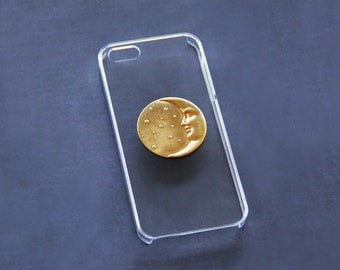 Moon iPhone 5 Case iPhone  Moon Case Gold iPhone 5c iPhone 6 Moon Hipster Case iPhone 5 Universe iPhone 5 Case  iPhone 6 Plus Moon