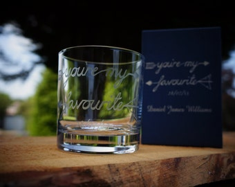 Personalised Birthday Gift, Glass Tumbler.