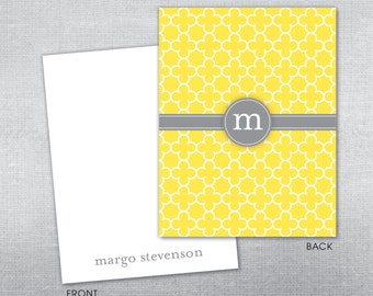 Personalized stationery. Personalized notecard.