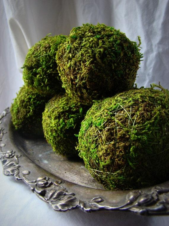 Moss Balls 4'' Moss Balls Green Decor Green Balls