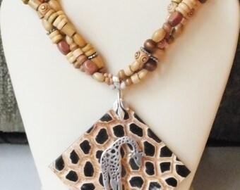 Safari Giraffe Necklace