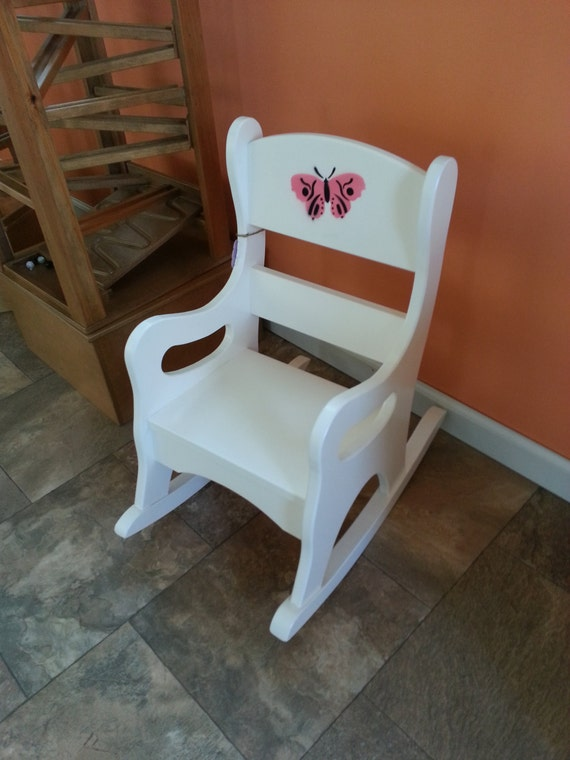 Wooden Rocking Chair Toddler Girl Preschool By Rustictoybarn