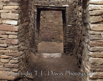 Chaco Canyon Doorway - 8 x 12 - High Quality Photographic Print