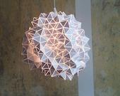 Geodesic Pendant Lamp Shade/ Sculpture