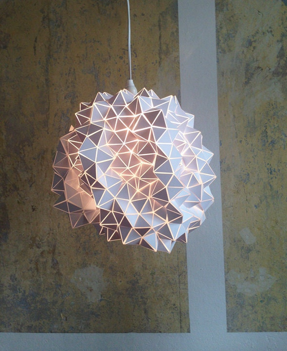 by BrittaGould (325.00 EUR) Geodesic Pendant Lamp Shade/ Sculpture