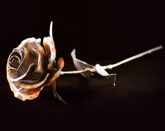 Valentines Day Metal Rose