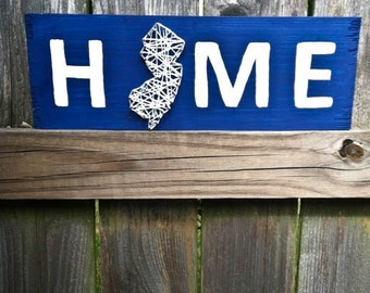 state string art string art home sweet home nail string art nail and string art custom sign rustic home decor new jersey string art - Custom Signs For Home Decor