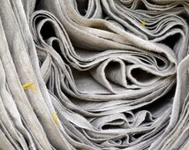 Natural linen(flax) fabric/ Stonewashed/ Heavy weight/European flax