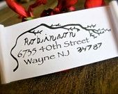 Self Inking Address Stamp- Return Address Stamp- Sheltering Tree