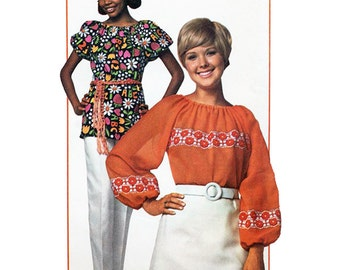 Simplicity 9231 Sewing Pattern Super Simple Misses Blouse Size 12-14