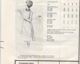 Fashion Sewing Pattern F1325 Misses Dress Size 10-18