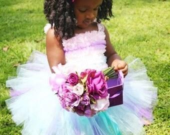 Purple and Aqua Tutu, Baby Tutu, Toddler Tutu