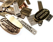 Custom Personalized Metal Clothing Tags 100pcs Made to Measure
