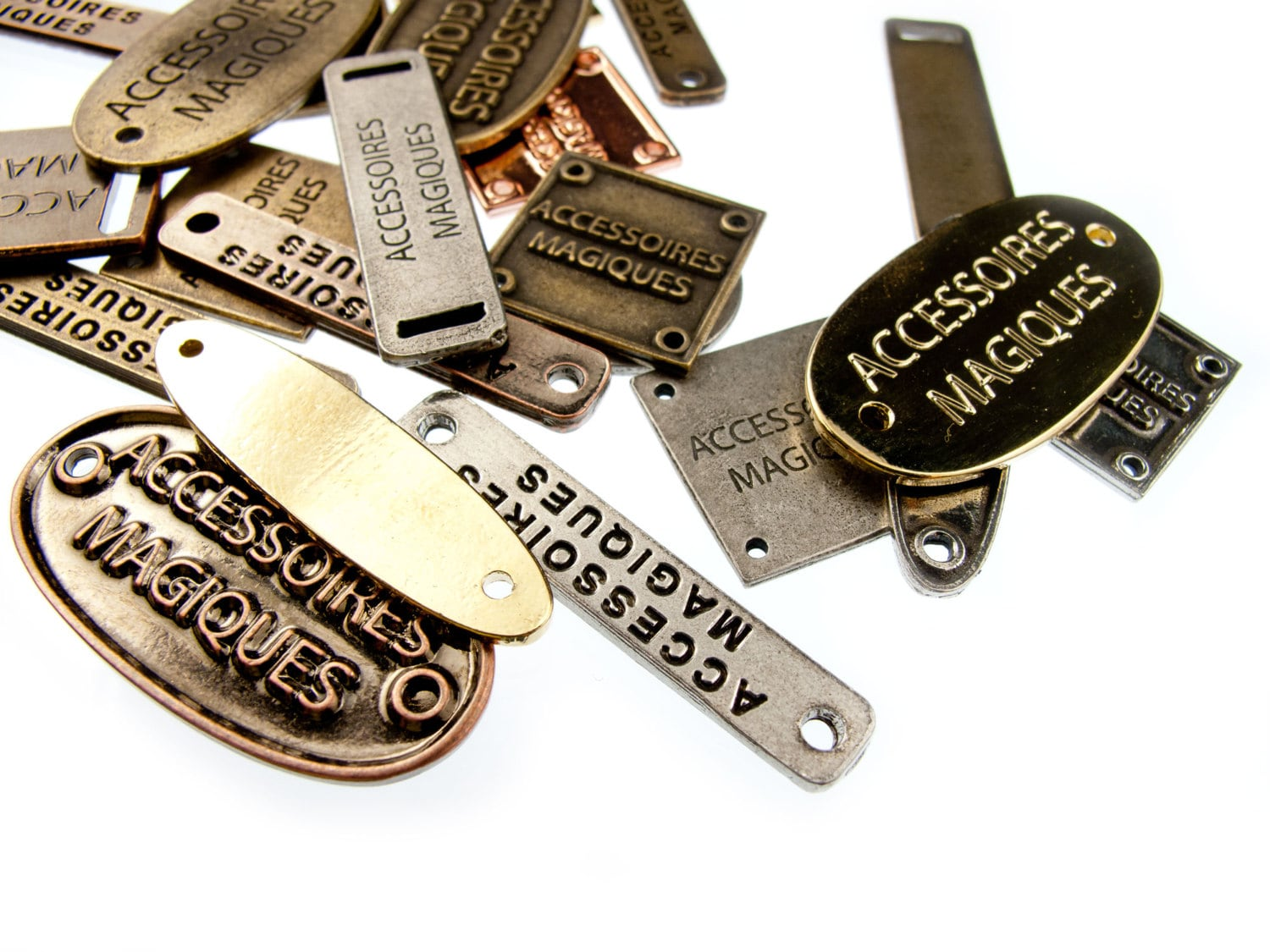 Custom Personalized Metal Clothing Tags 100pcs Made To