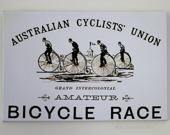 Canvas Print - Australian Cyclist's Union Race Flyer c.1882. 30x45cm 80.00AUD