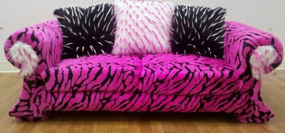 Genial Pink Furry Couch For All Ages