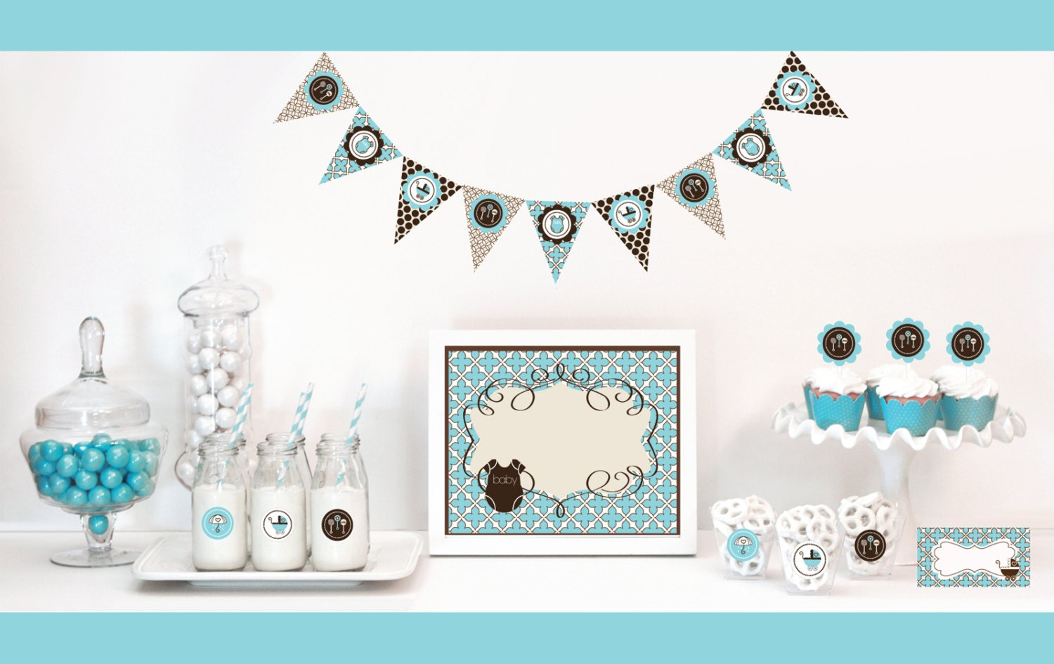 Baby shower decoration ideas for boys best baby decoration for Baby shower decoration kits boy